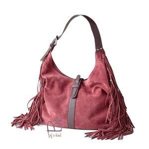 Sundance fringed suede leather shoulder bag